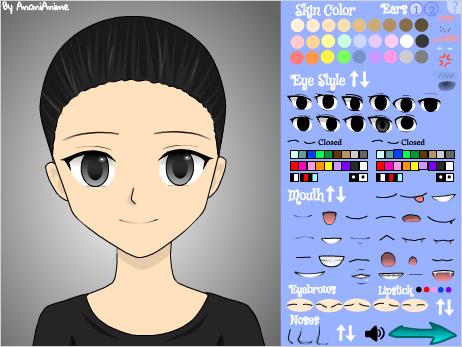 スクラッチすごい作品 Anime Character Maker(girl)